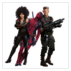 Deadpool. Размер: 50 х 50 см